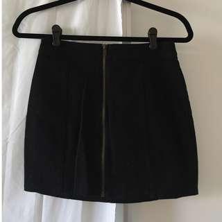 Jean Skirt with Zipper