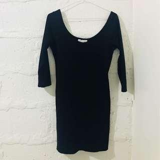 F21 3/4 Black Dress
