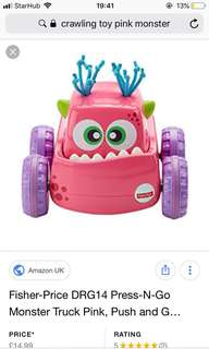 Fisherprice pink monster truck