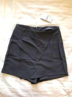 Fashion Nova black skort shorts skirt xs