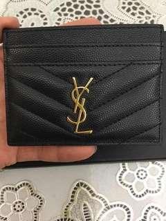 YSL Cardholder Yves Saint Laurent Card Holder Black