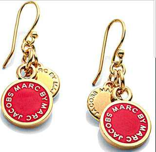 Marc Jacobs Enamel Logo Disc Earrings Zappos