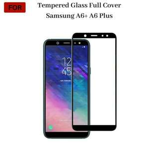 Samsung A6+ A6 Plus 2018 Tempered Glass Full Cover Full Cover