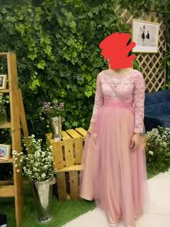 Long dress gaun pesta kebaya dress modern gaun malam