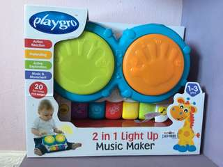 Playgro 2 in 1 Light Up Music Maker