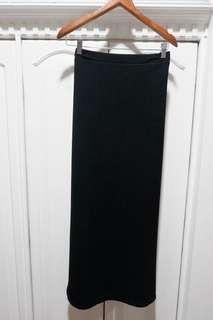 SM Woman Black Maxi Skirt