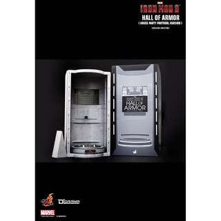 IRON MAN 3 HALL OF ARMOR (HOUSE PARTY PROTOCOL VERSION) Hot Toys