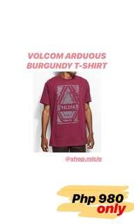 VOLCOM ARDUOUS BURGUNDY T-SHIRT