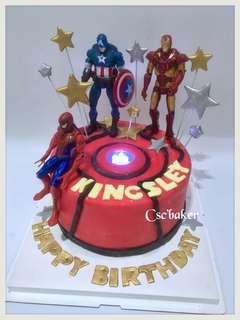 立體蛋糕 ironman蛋糕 蜘蛛俠蛋糕 生日蛋糕 3d 蛋糕