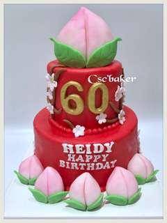 生日蛋糕 壽桃蛋糕 壽包蛋糕 立體蛋糕 3d蛋糕