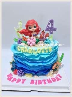 生日蛋糕 美人魚蛋糕 公主蛋糕 立體蛋糕 3d蛋糕
