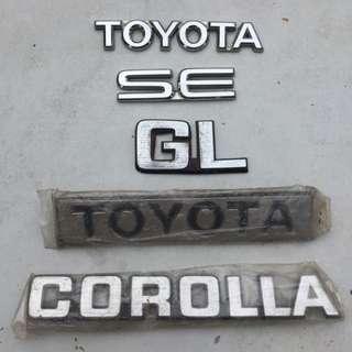 toyota SE LE Corolla Badge emblem