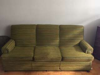 Mid century couch and arm chair