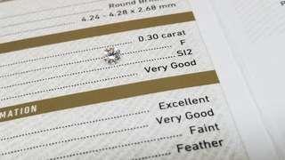 GIAF色 靚鑽石 0.30卡/ F 色 / SI2 / VGEXVG / FAINT