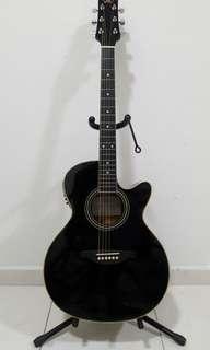 SX Semi Acoustic Preamp Guitar gitar