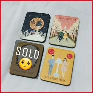 ✈  BN Love N Seoul Tower Fridge Magnets