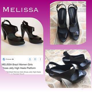 Authentic MELISSA Jelly High Heels