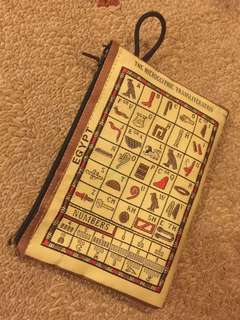 Egyptian hieroglyphics pouch