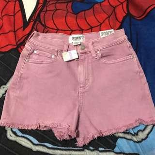 💯% original VS Pink high waist cut shorts