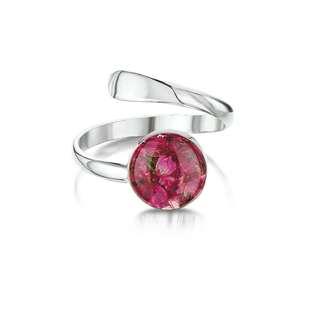英國手工保鮮花戒指