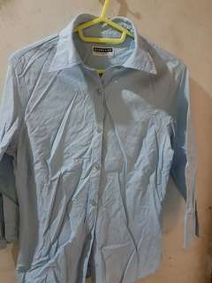 GIORDANO Baby Blue Office Blouse