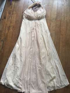 Nude Convertible Long Gown, Fits M-L