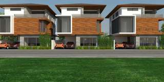 Rare single detached new manila townhouse preselling upto6 car garage
