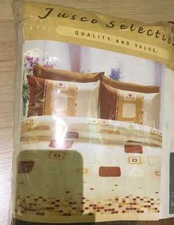 Jusco cotton single size fitted bedsheet & pillow cover