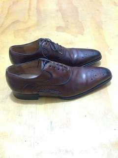 Heyraud Lace Up Leather Brown Shoes