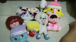 Japan / korea stuff toys! Bundle