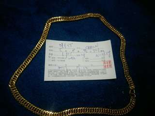 Necklace 24k 100%taiwan gold