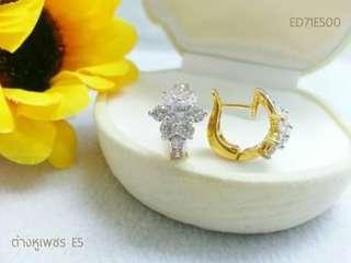 Diamond earrings cz Grade