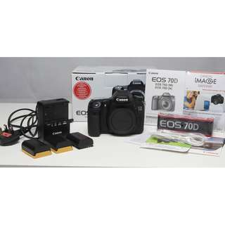 Canon 70D Full Box Set