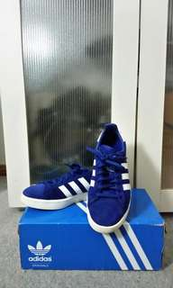 Blue Adidas Campus Sneakers