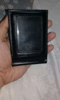 MSense Black Wallet Money Clip with Card Holder