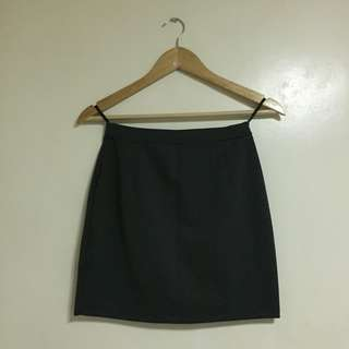Gray mini office skirt