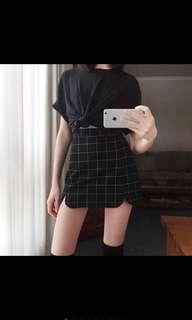 🚚 短裙 格子短裙 包臀裙 窄裙 高腰裙