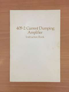 Quad  405-2 Current Dumping Amplifier Instruction Book