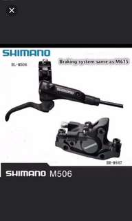 SHIMANO M506/M447 Hydraulic brake set ( full set front and rear )