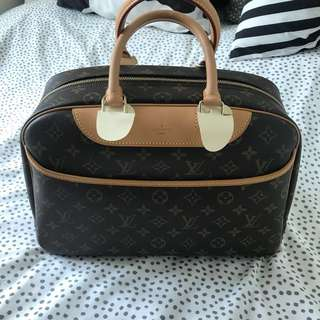 Louis Vuitton Monogram Deauville  保齡球袋 手挽袋LV Handbag