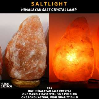 🚚 Authentic Himalayan Salt Crystal Lamp with marble base and high quality, long lasting bulb | Reduce allergy symptoms | Chromotherapy soothes and relax | Natural Anti bacterial properties cleanse and purify
