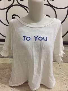 Baju wanita semi crop te