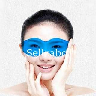 Close Eyes Jelly Gel Masks : Wear : Elastic Bands : Reusable : Sleep : Relax : Relaxing : Refresh : Refreshing : Stress : Shielding Light : Anti Dark Circles Rings : Masque : Eyescare : Care : Skincare : Face : Facial : Portable : Slim Design : Sellzabo