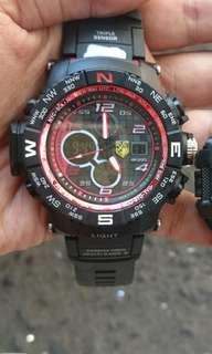 Jam tangan digital dualtime murah