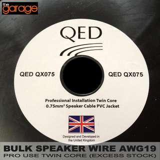 BULK SPEAKER WIRE AWG19 PRO USE TWIN CORE (EXCESS STOCK)