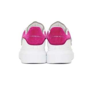 原裝正版包郵配原裝鞋盒鞋袋 桃紅色 Alexander McQueen Sneaker special limited 免郵費
