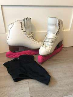 Figure Skates with Skate Covers