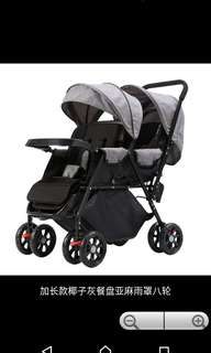 In stock / extended style /twins Baby Stroller/twins baby pram