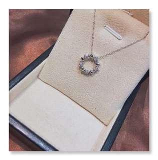 18K白色黃金鑽石項鏈