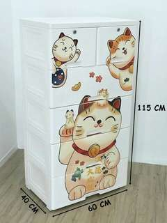 CAT CARTOON DRAWER CABINET